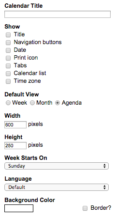 Embed Google Calendar in Taco Chrome extension