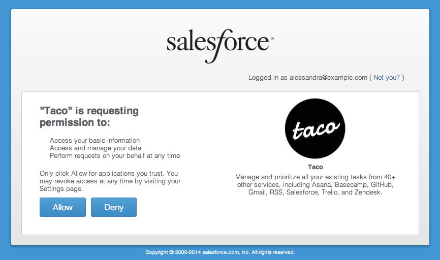 Sync Salesforce cases with OAuth