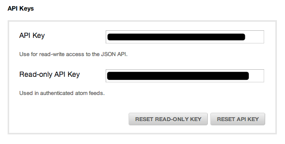 Tender API Keys