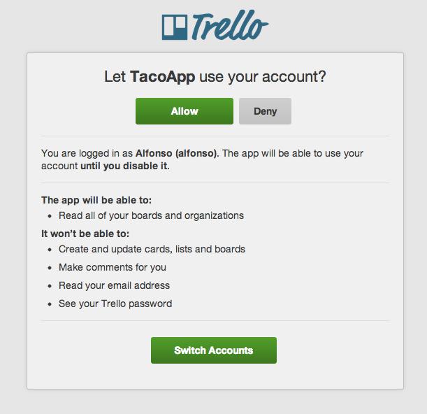 Sync Trello tasks with OAuth