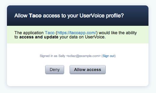 Sync UserVoice tickets via OAuth