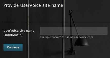 UserVoice site subdomain
